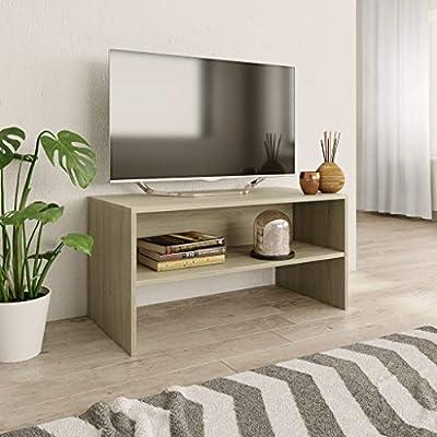 Tidyard Mobile Porta TV Design Moderno in Truciolato Grigio Cemento,Mobile TV Moderno,Porta TV Moderno,Mobile TV Soggiorno,Mobiletto TV Moderno 120x40x40 cm