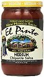 salsa el pinto - El Pinto Chipotle Salsa, Medium, 16 Ounce (Pack of 6) by El Pinto