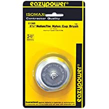 Eazypower 81088 Medium-Fine Nylon Cup Brush (1-Pack), 2-1/2-Inch