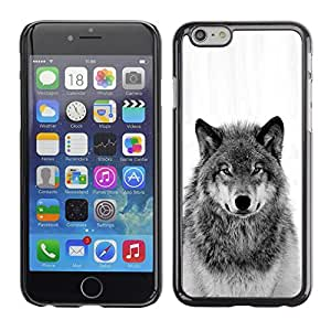 Loup sauvage Hurlement Noir Blanc - Metal de aluminio y de plástico duro Caja del teléfono - Negro - iPhone 6