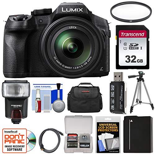 Panasonic Lumix DMC-FZ300 4K Wi-Fi Digital Camera with 32GB Card + Battery + Case + Tripod + Flash + Filter + Kit