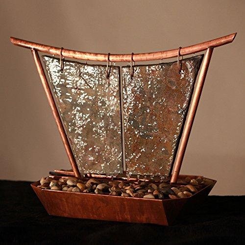 Sunnydaze Phoenix Tabletop Fountain, Copper, 20 Inch by Sunnydaze Decor (Image #5)