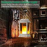 TomCare Solar Lights Metal Flickering Flame Solar