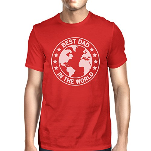shirt Courtes T Unique Manches Printing Best World Red Homme Taille 365 Dad Ef6OqxnC