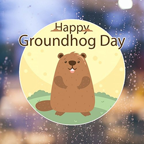 US and Canada Groundhog Day February Second Colorful Pattern Removable Wall Sticker Art Decals Mural DIY Wallpaper for Room Decal