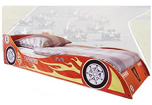 Rennwagenbett Kinderbett Jugendbett im Rennwagendesign Autobett 90 x 200cm rot