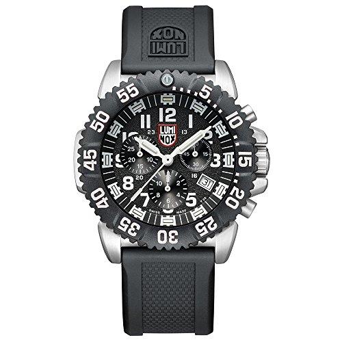 Bracelet Luminox Diver - Luminox Mens Chronograph Quartz Connected Wrist Watch with PU Strap XS.3181.L