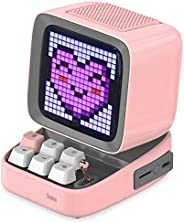 Divoom Ditoo Retro Pixel Art Game Bluetooth Speaker with 16X16 LED App Controlled Front Screen (Pink)
