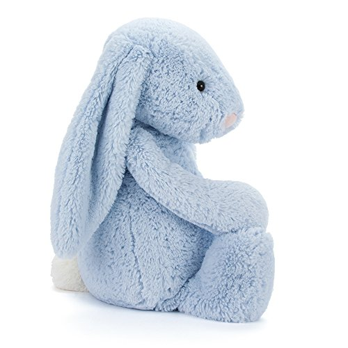 80 Off Jellycat Bashful Blue Bunny Stuffed Animal Large 15 Inches