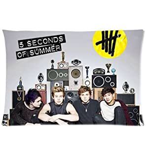 Generic Personalized 5 Seconds Of Summer 5SOS Music Rock Band Rectangle Pillowcase 24x16 inches (one side)