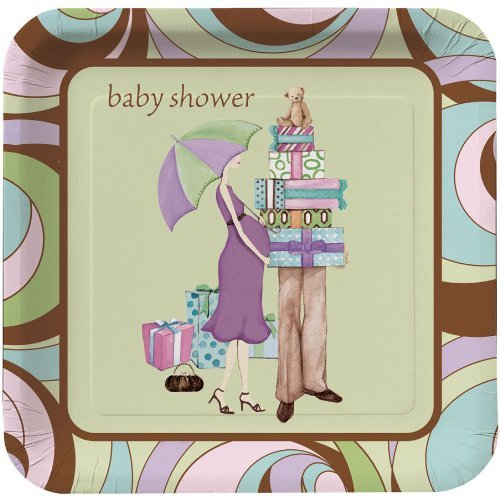 Baby Shower Parenthood (Parenthood Baby Shower 7-Inch Paper Plates 8 Per Pack)