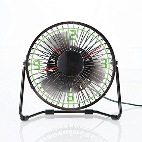 Brookstone Clock Fan with Floating LED Time Display