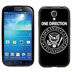 Samsung Galaxy S4 SIIII Black Rubber Silicone Case - One Direction 1D Seal