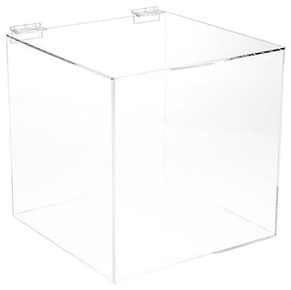 Amazoncom Plymor Brand Acrylic Display Box Case With Hinged Lid 4