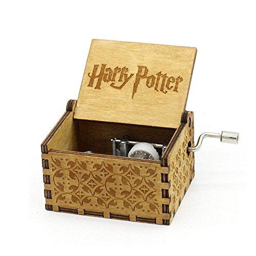 Hedwig Caja de música de madera, tema Harry Potter, grabada a mano