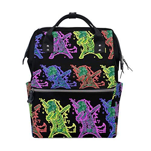 Dabbing Unicorn Skeleton Hip Hop Diaper Bags Large Travel Nappy Nursing Backpack Mommy Bag