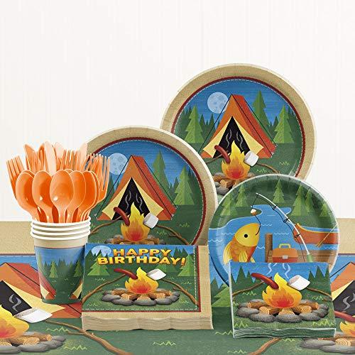 Creative Converting Camping Party Supplies Kit, Serves 8
