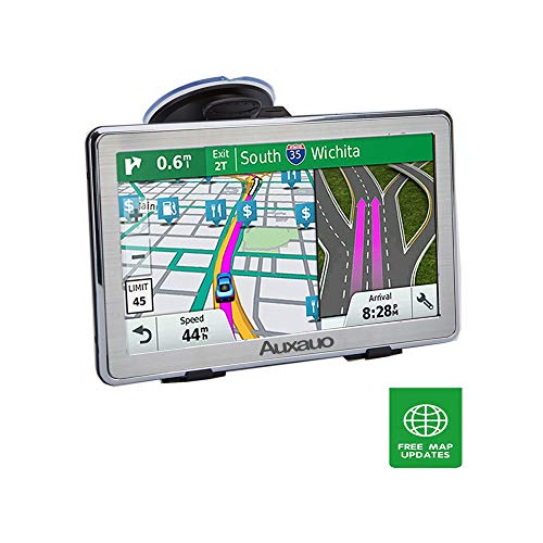 Car GPS Navigation,HD 7-inch 8GB Vehicle Navigation System Free Lifetime Maps-True Voice Broadcast in Over 40 Languages