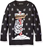 Alex Stevens Little Boys' Toddler Sloth Pole Sweater, Black Combo, 2T
