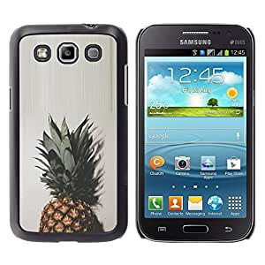 iKiki Tech / Estuche rígido - Top Green Brown White Simplistic - Samsung Galaxy Win I8550 I8552 Grand Quattro