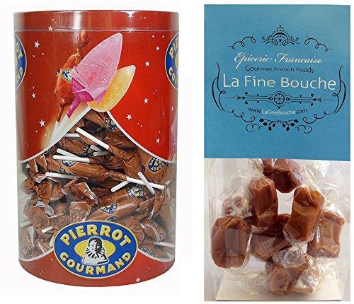 - Pierrot Gourmand Caramel Lollipops Tub 125 Count