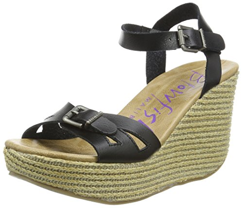 Blowfish Driveln - Sandalias Mujer Negro - Schwarz (black/natural)