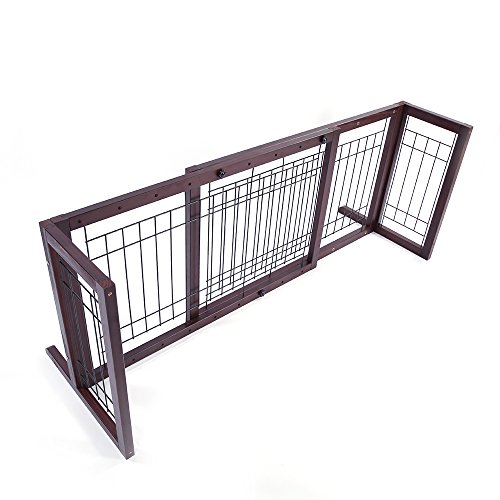 Fch Pet Gate Adjustable Indoor Fence Free Standing Baby