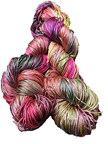 Silk Lace Yarn - Knitsilk Brand 100% Mulberry Silk Yarn 50 gram 3 Ply Lace Weight in Unicorn color | Great for knitting, crochet, weaving, mixed media