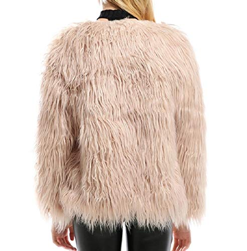 Shearling Winter Fall Fleece Khaki Jacket Outerwear Fluffy AngelSpace Warm Womens Un1WWqE