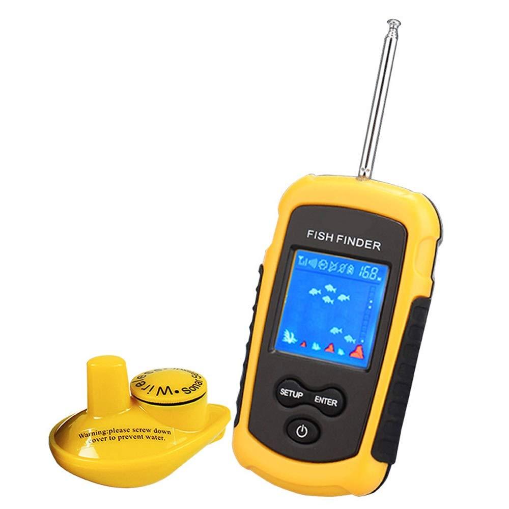 ハンドヘルド魚群探知機ポータブル釣りカヤック魚群探知機魚の深さファインダー釣りギア付きソナートランスデューサーと液晶ディスプレイ Wireless Wireless B07QKCPC9P, Brillance:3375d691 --- tandlakarematspetersson.se