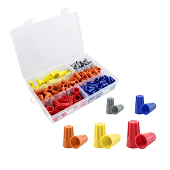 200 pcs twist nuts caps, sim&nat wire nuts screw-on terminals electrical  wire connectors with spring insert assortment set: amazon.com: industrial &  scientific  amazon.com