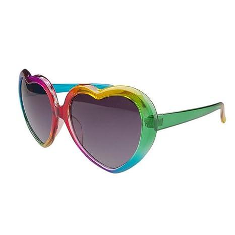 Peggy Gu Gafas de Sol de Colores en Forma de corazón para ...