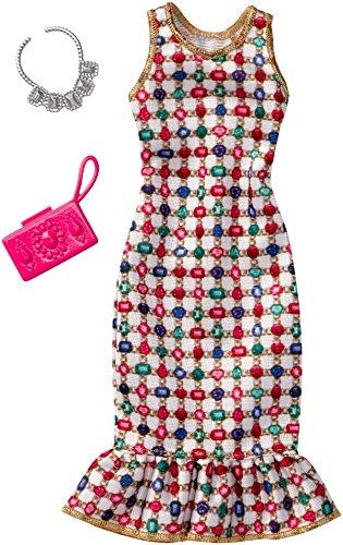 Barbie Fashions Complete Look - Multicolored Gem Dress (Fashion Gem)