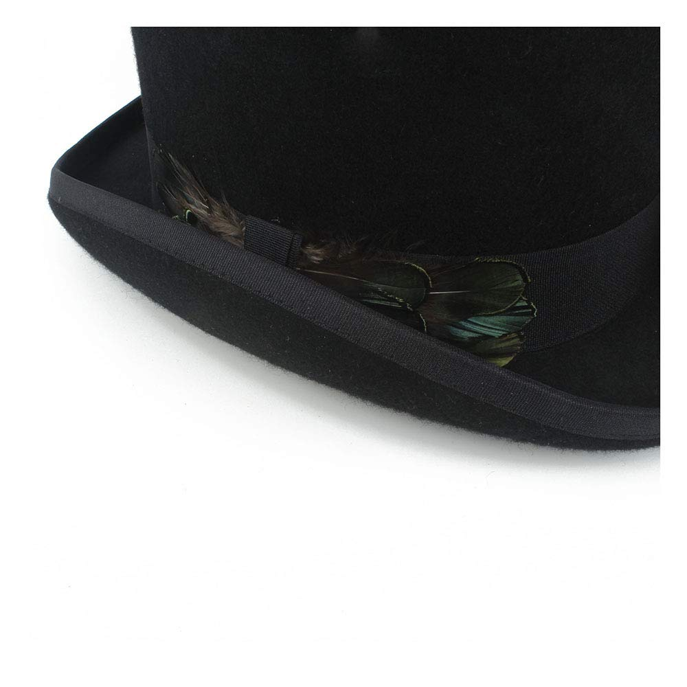 LL Women's Top Hat Ladies Wool Fedora Magician Party Hat 4Size S M L XL 13.5 cm (5.3 Inch) (Color : Black, Size : 57cm) by LL (Image #7)