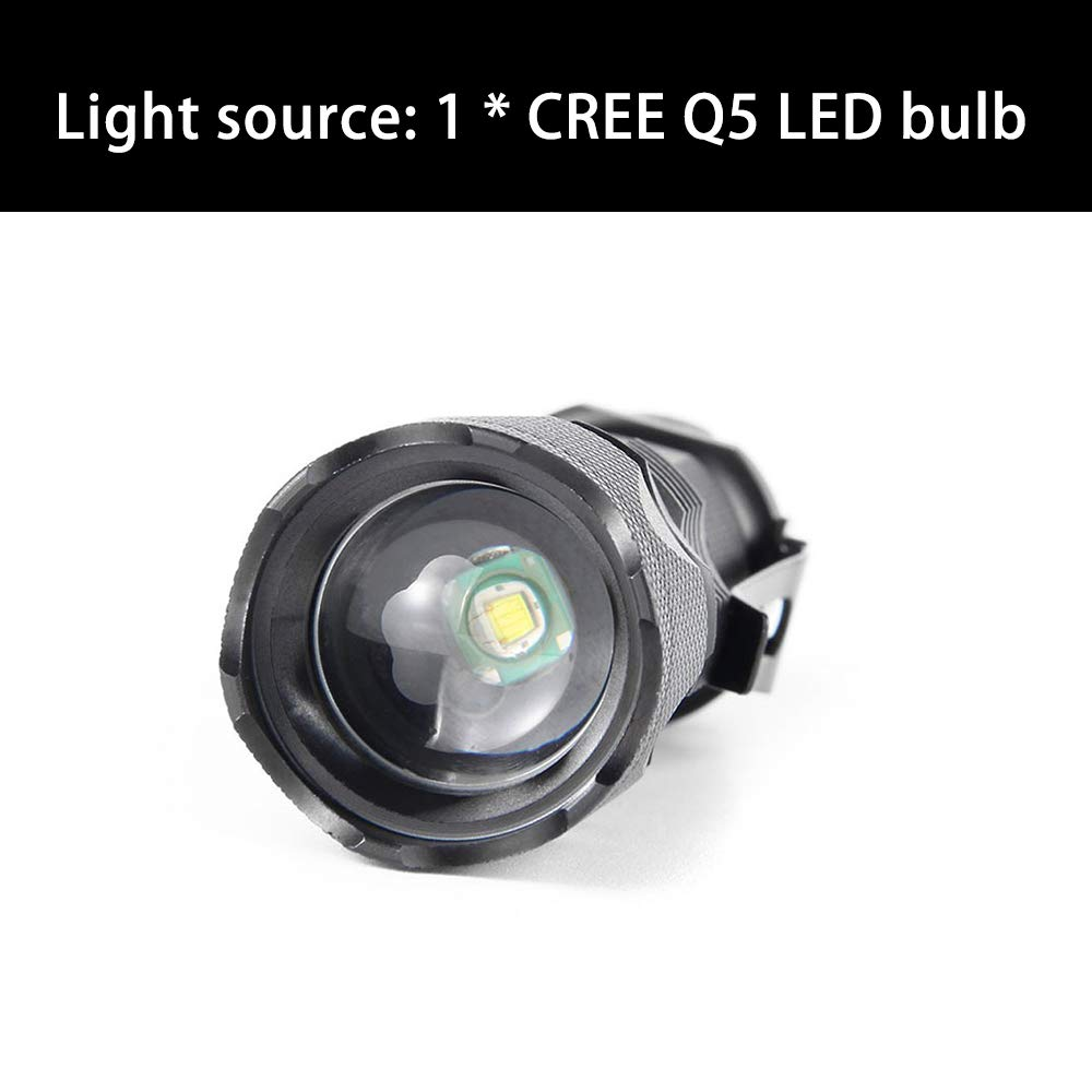 Durable  Q5 LED lampe Taschenlampe Mini Taschen 14500 AA Aluminium Blau PW