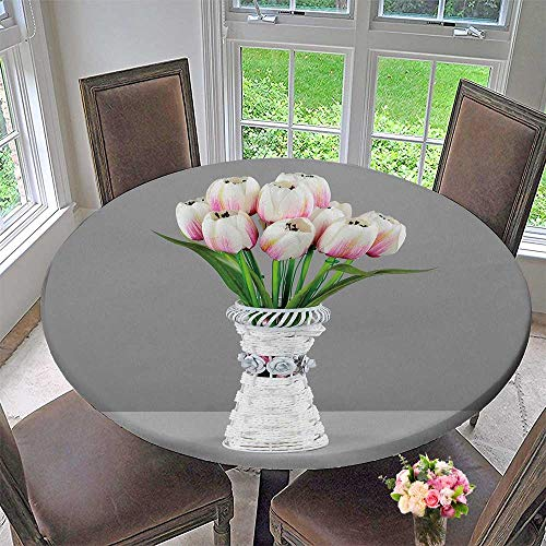 PINAFORE HOME Simple Modern Round Table Cloth Lamps and Chandeliers for Interior Design for Daily use, Wedding, Restaurant 31.5