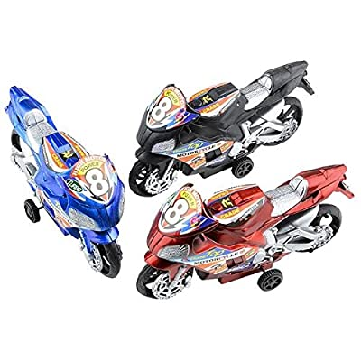 Oasis Supply 4.25 Pullback Motorcycle, Plastic, 12 pcs: Toys & Games