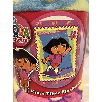 Dora the Explorer 'Stars' Fleece Throw: Home & Kitchen
