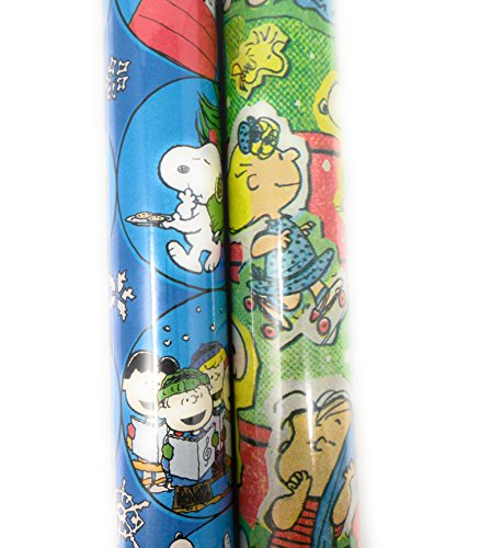 Charlie Brown Toddler Costumes (Christmas Wrapping Holiday Paper Gift Greetings 2 Rolls Design Festive Charlie Brown Peanuts Linus)