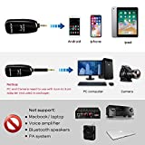 Wireless Lavalier Lapel Microphone,Professional UHF Omnidirectional Recording Mic with Clip-on Lapel Mic Compatible with iPhone,Ipad,Android Smartphone,DSLR,for Video Recording,YouTube,Interview,Live