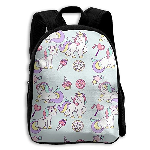 Unicorn Kids Shoulder Backpack Adjustable Printed Boys Girls School Bag