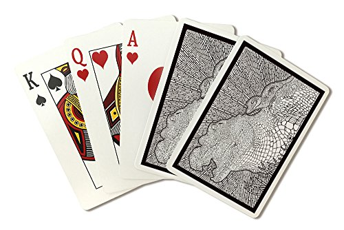 Alligator - Coloring Book (Playing Card Deck - 52 Card Poker Size with Jokers)