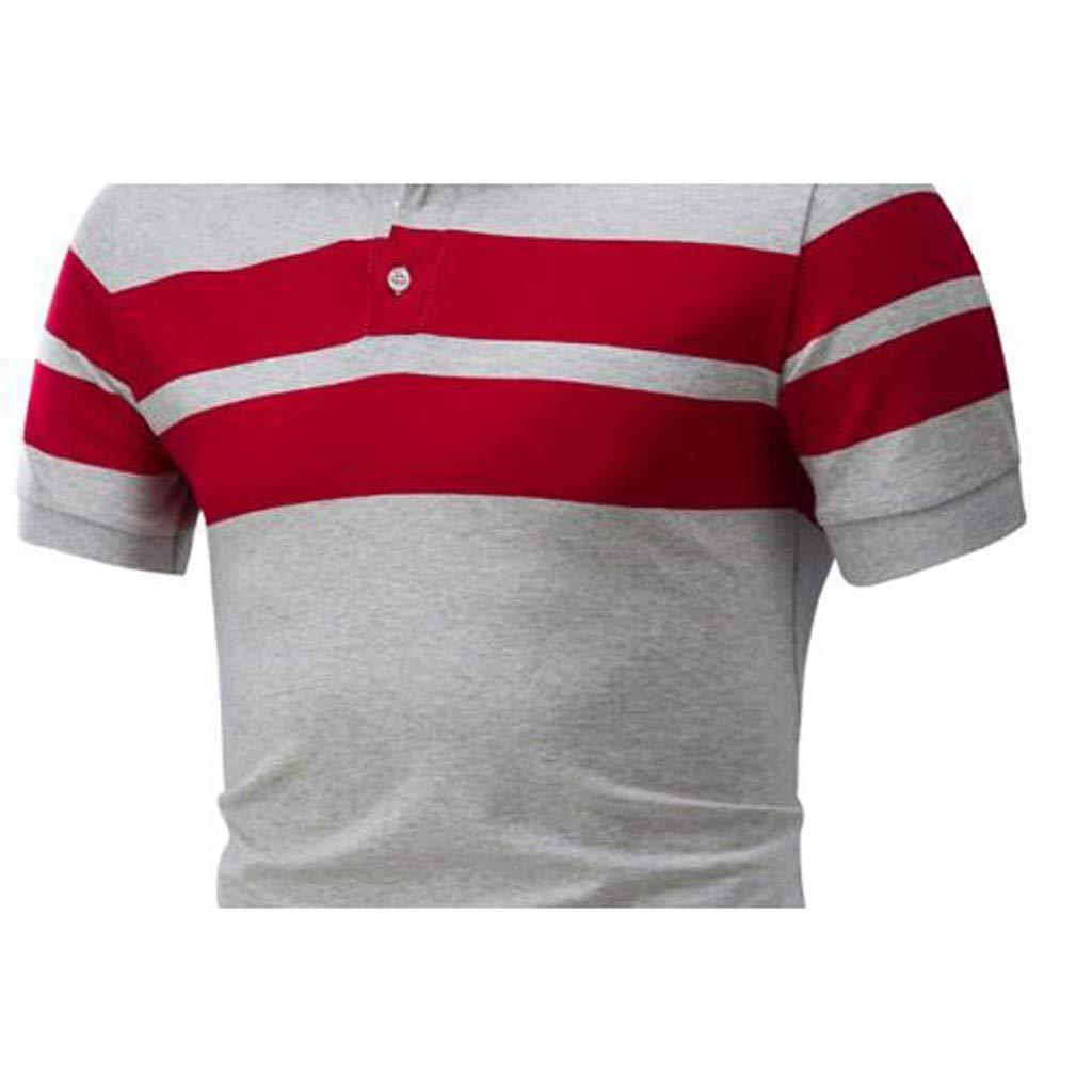 Slim-fit Short-Sleeve Plaid Shirt Camisa de Vestir Hombre ...