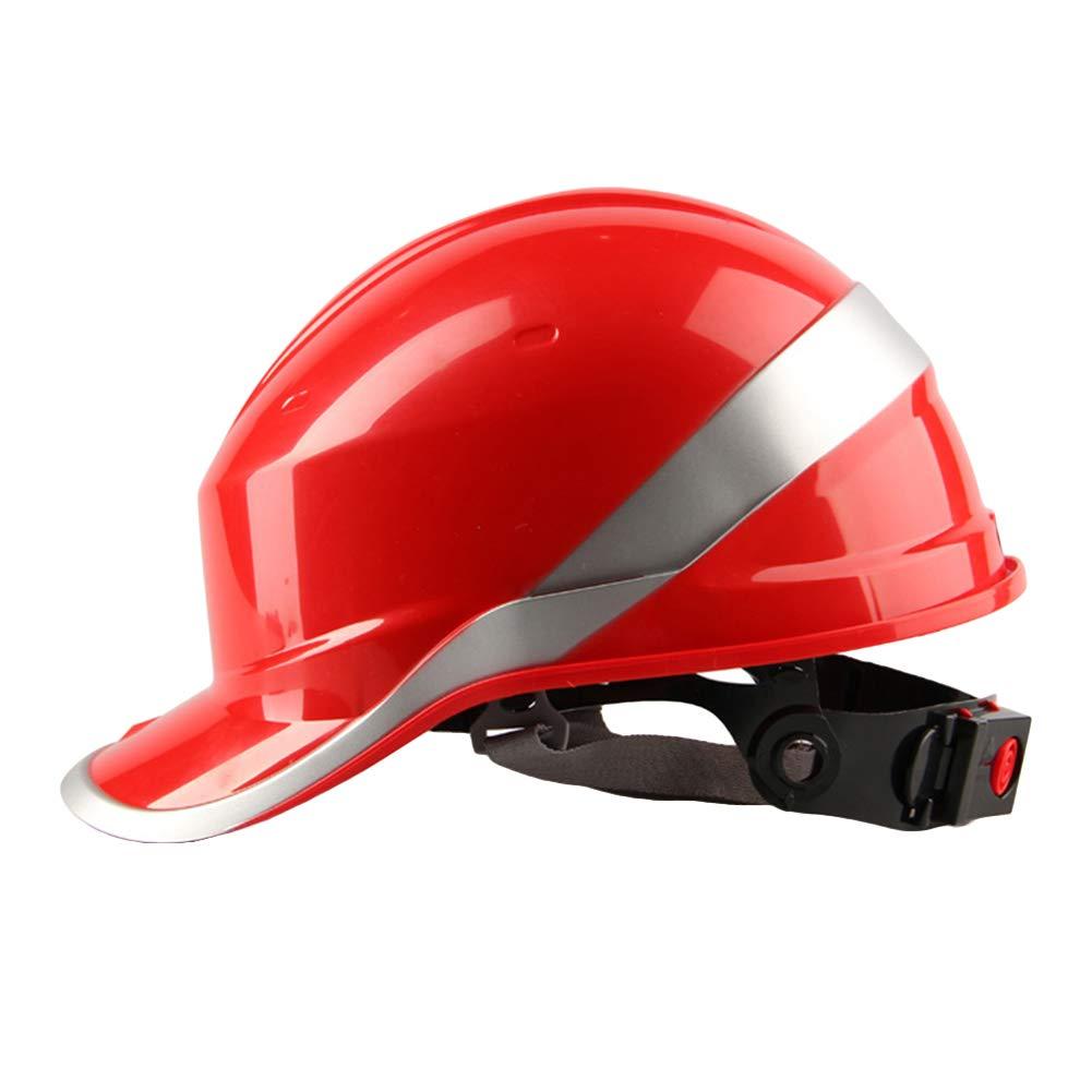dljztrade 8 Fixing Points Adjustable Reflective Diamond Hard Hat Safety Helmet Bump Cap White