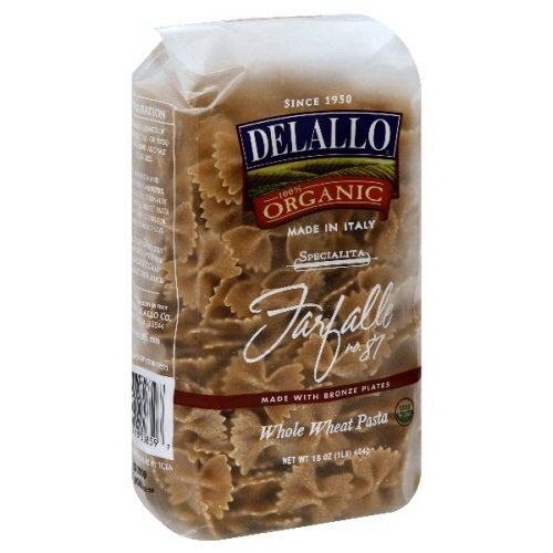 DeLallo Farfalle, Whole Wheat, Organic 16.0 OZ(Pack of 1) ()