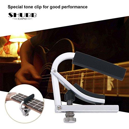 Tmalltide SHUBB L9 Acoustic Guitar Capo Aluminum Tone Adjusting for Ukulele Guitar