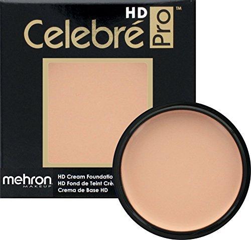 Mehron Makeup Celebre Pro-HD Cream Face & Body Makeup (.9 oz) (SOFT PEACH) -