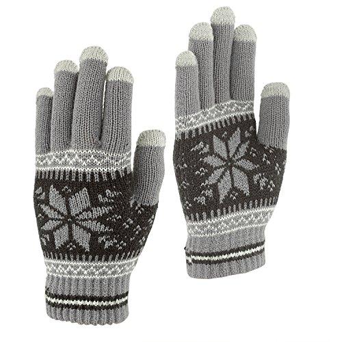 Touchscreen Texting Gloves - Outdoor Men's/Women's Warm Knit Winter Gloves