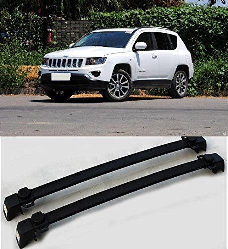 VSEK 2011-2017 Jeep Compass Crossbars Roof Luggage Racks with Vertical Side
