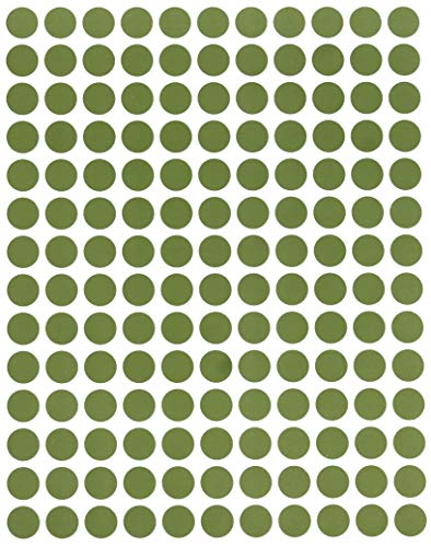 Royal Green Color Round Labels 3/8 (0.375) inch 10mm Circles Dot Sticker - Olive Circular Label Three Eights inch - 2100 Pack ()